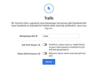 facebook trafik kampanya